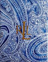 Ralph Lauren Veranda Paisley Blue Set of Four Cloth Napkins