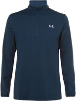 Under Armour - Fleece-back Stretch-jersey Half-zip Golf Top