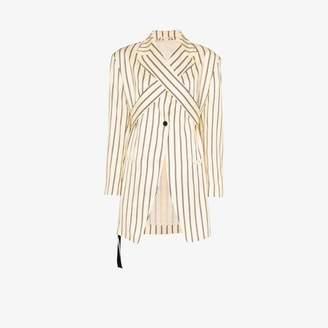 Unravel Project stripe tie wrap blazer