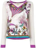 Etro butterflies print knitted blouse - women - Silk/Wool - 46