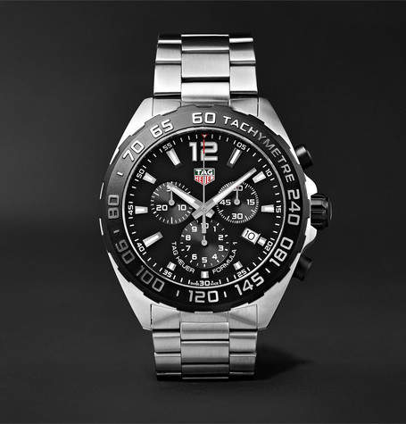 Tag Heuer Formula 1 Chronograph 43mm Stainless Steel Watch - Black