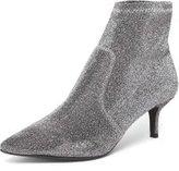 Dorothy Perkins Womens Silver 'Marni' Kitten Sock Boots- Silver