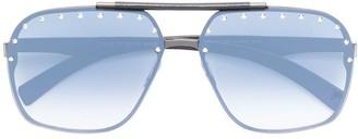 Philipp Plein Studded Aviator Sunglasses