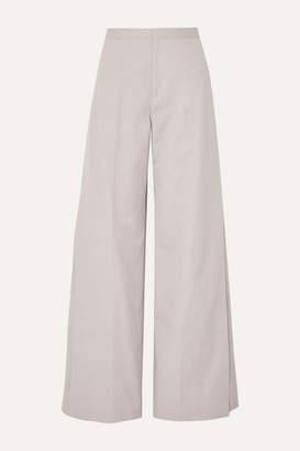 Maison Margiela Cotton Wide-leg Pants - Beige
