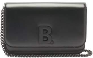 Balenciaga B. Leather Cross-body Bag - Womens - Black
