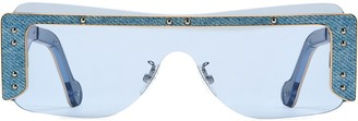 Fenty by Rihanna Guarded denim mask sunglasses