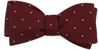 The Tie Bar Dotted Report Burgundy Bow Tie
