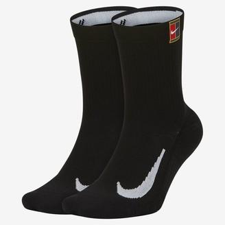 Nike Tennis Crew Socks (2 Pairs) NikeCourt Multiplier Cushioned