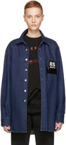 Raf Simons Navy Denim Shirt