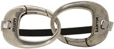 Lanvin Black and Silver Hooks Bracelet