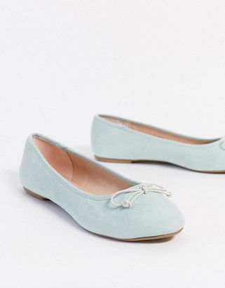Miss Selfridge ballet pumps in pastel blue