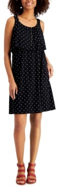 Style&Co. Style & Co Polka-Dot Popover Dress, Created for Macy's