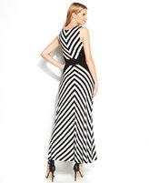 Calvin Klein Sleeveless Striped Maxi Dress