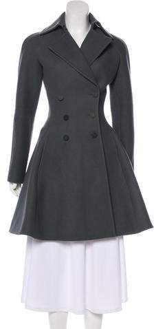 Alaia Wool Double-Breasted Coat