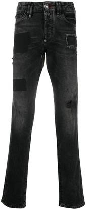 Philipp Plein Monogram super straight jeans