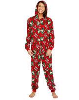 Asstd National Brand Onesie Red Happy Elf Holiday Print Family Pajamas-Women's
