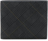 Canali check print wallet - men - Suede - One Size
