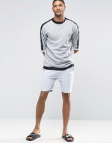 Asos Loungewear Shorts In Gray Marl