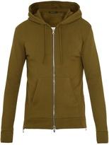Balmain Hooded zip-through cotton sweatshirt