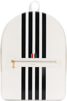 Thom Browne Tennis Collection contrast bar stripe backpack - men - Leather - One Size