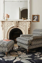 Anthropologie Trellis-Woven Willoughby Ottoman