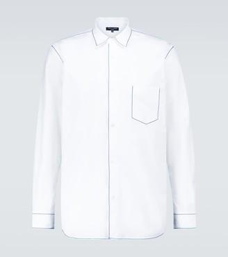 Comme des Garçons Homme Stitched long-sleeved cotton shirt