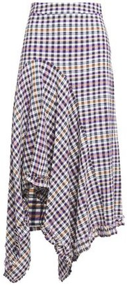 Hofmann Copenhagen Juliane Asymmetric Gingham Seersucker Skirt