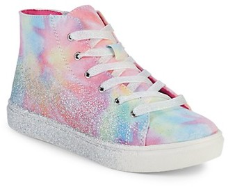 Steve Madden Girl's Tie Dye High-Top Sneakers