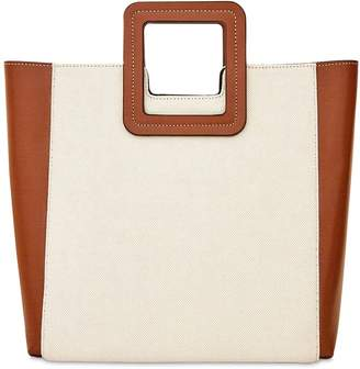 STAUD SHIRLEY CANVAS & LEATHER BAG W/POUCH