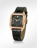 Venom - Ladies' Black Gold Plated Dress Watch