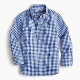 J.Crew Kids' Secret Wash shirt in navy gingham
