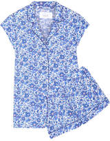 Three J NYC Olivia Floral-print Cotton-poplin Pajama Set - Blue