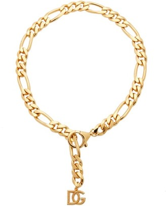 Dolce & Gabbana charm Figaro-chain Necklace - Gold