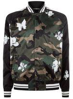 Valentino Satin Camouflage Bomber Jacket