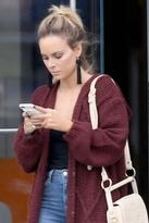 Vanessa Mooney Astrid Knotted Tassel Earrings in Black