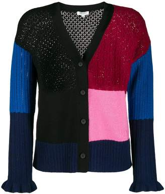 Kenzo colour block buttoned cardigan