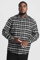 BoohoomanBoohooMAN Mens Black Big & Tall Shirt With Classic Check, Black
