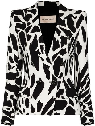 Alexandre Vauthier Animal-Print Double-Breasted Blazer