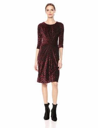 Taylor Dresses Women's Animal Print Front Knot Dress