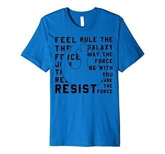 Star Wars Last Jedi Rebel Resist Bold Text Premium T-Shirt