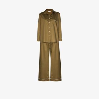POUR LES FEMMES Sateen two-piece pajama set