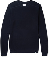 Norse Projects - Lauge Slim-fit Waffle-knit Wool And Cotton-blend Sweater