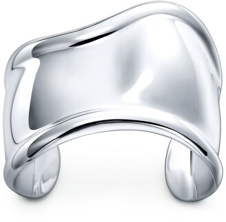 Tiffany & Co. Elsa Peretti Bone cuff in sterling silver, small, right wrist