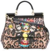 Dolce & Gabbana Sicily designer's patch shoulder bag