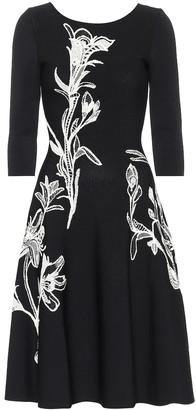Alexander McQueen Floral jacquard midi dress