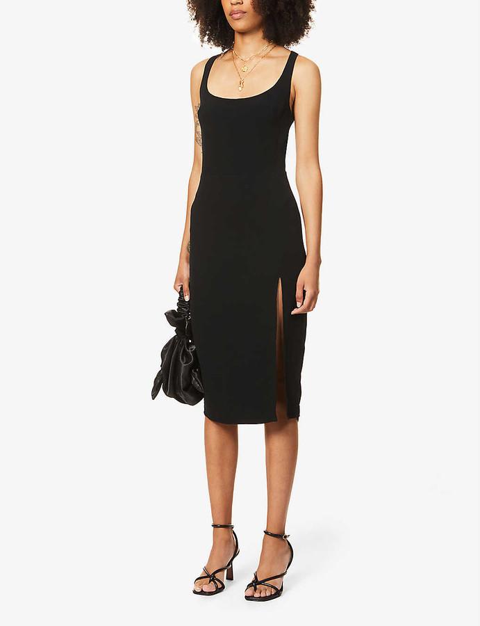 Reformation Norton sleeveless crepe midi dress