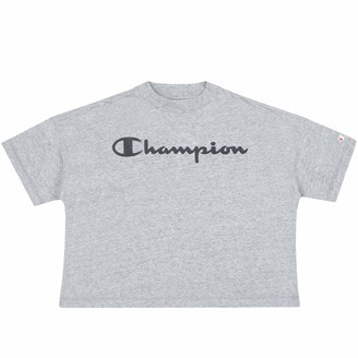 Champion Women T-Shirt Crop Top 113227 Color:Grey (noxm) Size:L