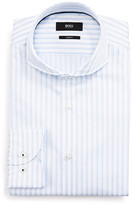 BOSS Men's Slim Fit Striped High-Collar Dress Shirt