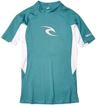 Rip Curl Wave UV Tee Short Sleeve (Teal) Men's Swimwear