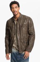 HUGO BOSS Orange 'Joctor' Lambskin Leather Jacket